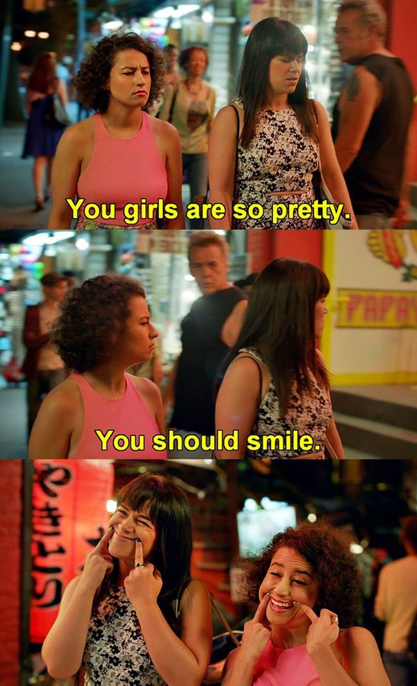 tell me to smile broad city